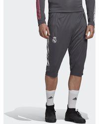 adidas Real Madrid Driekwartbroek - Grijs