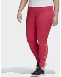 adidas Essentials Legging (grote Maat) - Roze