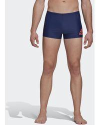 adidas Badge Fitness Zwemboxer - Blauw