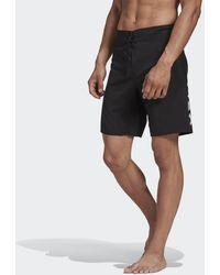 adidas Classic Length Big Logo Boardshort - Zwart