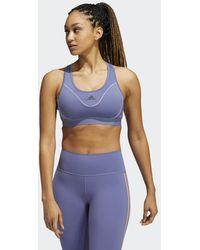 adidas Believe This Medium-Support Reflective Sport-BH - Lila