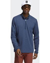adidas 3-stripes Quarter-zip Pullover - Blue