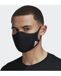 adidas Face Covers 3-Pack M/L - Nero