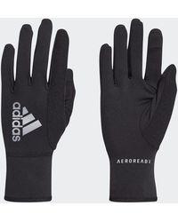 adidas Aeroready Warm Running Gloves - Black