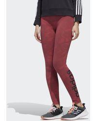 adidas Essentials Allover Print Tights - Pink