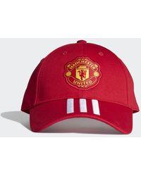 adidas Manchester United Baseball Kappe - Rot