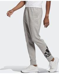 adidas Pantaloni Essentials French Terry Tapered Cuff Logo - Grigio