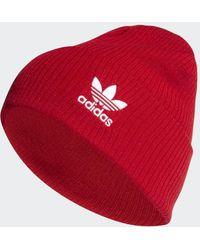 adidas Adicolor Ribbed Cuff Mütze - Rot