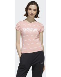 adidas T-shirt Favorites - Rosa