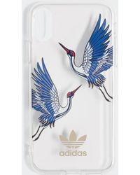 adidas Cover CNY Clear iPhone X/XS - Blu