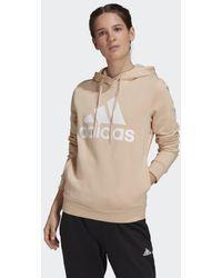 adidas Loungewear Essentials Logo Fleece Hoodie - Roze