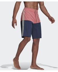 adidas Knielange Colorblock Boardshort - Roze