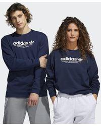 adidas 4.0 Logo Long Sleeve Tee (gender Neutral) - Blue