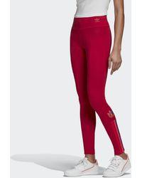 adidas Adicolor 3d Trefoil Legging - Rood