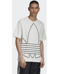 adidas Big Trefoil Outline T-Shirt - Weiß