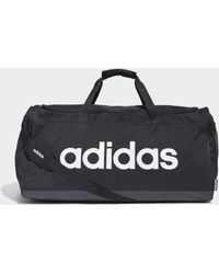 adidas Bolsa de deporte grande Linear Logo - Negro