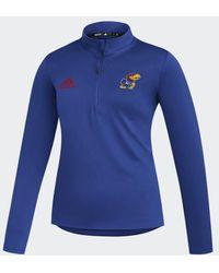 adidas Jayhawks Under The Lights Knit Sweatshirt - Blue