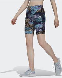 adidas - Farm Rio 3-stripes Print Katoenen Fietsshort - Lyst