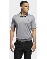 adidas Advantage Novelty Heathered Poloshirt - Grijs