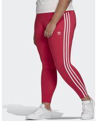 adidas 3-stripes Legging (grote Maat) - Roze