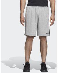 adidas Essentials 3-stripes French Terry Short - Grijs