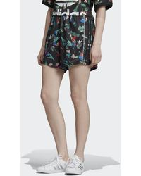 adidas - Floral Allover Print Shorts - Lyst