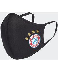 adidas Fc Bayern München Mondkapjes Xs/s 3-pack - Zwart