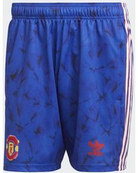 adidas - Manchester United Human Race Shorts - Lyst