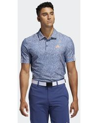 adidas 3-Streifen Jacquard Poloshirt - Blau
