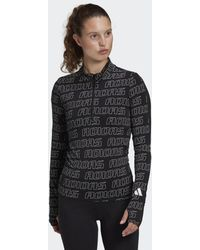adidas T-shirt Stretchy Half-Zip - Noir
