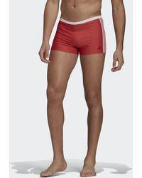 adidas 3-stripes Zwembroek - Rood