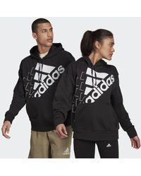 adidas - Felpa con cappuccio Essentials Logo (Gender neutral) - Lyst