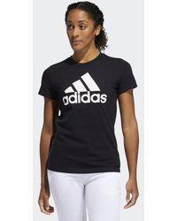 c69fbdbd48 adidas Cotton Badge Of Sport Baseball Tee (white/medium Grey Heather ...