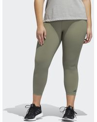 adidas Tight 7/8 Believe This Solid (Taglie forti) - Verde