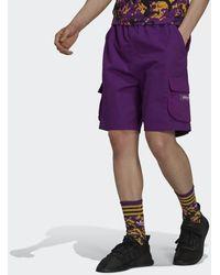 adidas Adventure Ripstop Cargo Shorts - Purple