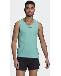 adidas Camiseta sin mangas Terrex Parley Agravic Trail Running - Verde