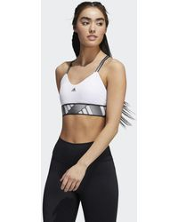 adidas All Me Light Support Sportbeha - Wit