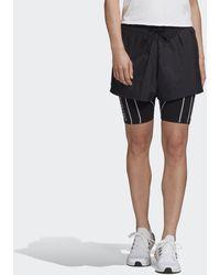 adidas Detachable Two-in-One Shorts - Schwarz
