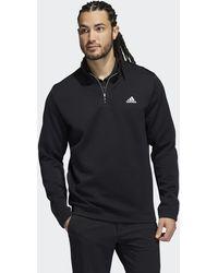 adidas Primegreen Water-resistant Quarter-zip Pullover - Black