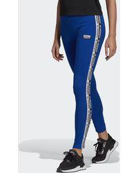 adidas Tape Legging - Blauw