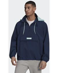 adidas 1/4 Zip Jacke - Blau