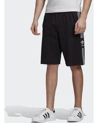 adidas Short Polaire 3-Rayures Homme - Noir