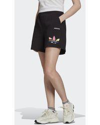 adidas Adicolor Shattered Trefoil Short - Zwart