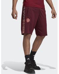 adidas - Manchester United Travel Shorts - Lyst