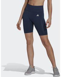 adidas Designed 2 Move Seamless Aeroready Korte Legging - Blauw