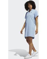 adidas 3-stripes Primegreen Jurk - Blauw