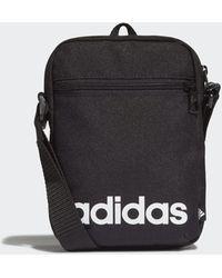 adidas Essentials Logo Shoulder Bag - Black