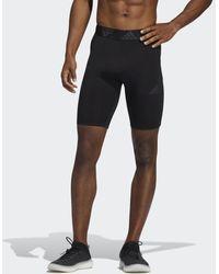 adidas - Techfit 3-stripes Korte Legging - Lyst