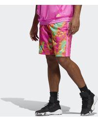 adidas Donovan Mitchell Short - Roze