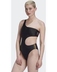 adidas Adicolor 3d Trefoil Swimsuit - Black